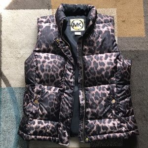 Michael Kors Cheetah Print Puffer Vest